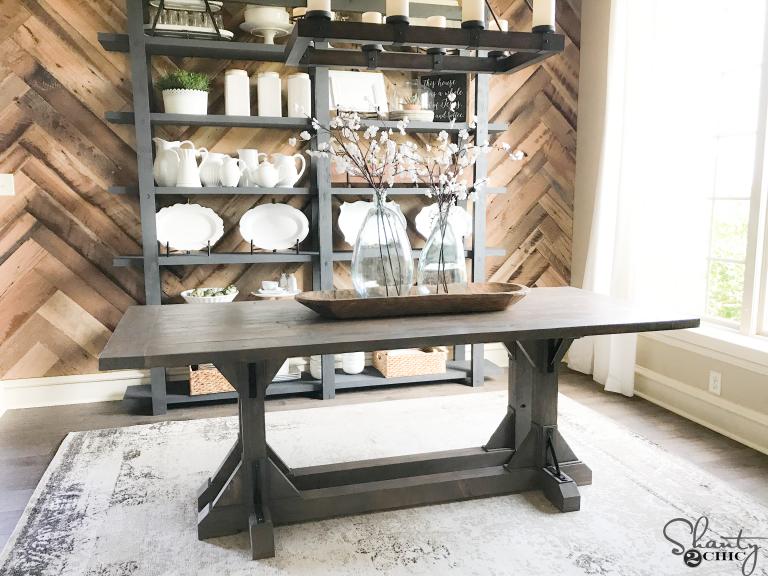 DIY Industrial Corbel Farmhouse Table - Shanty 2 Chic
