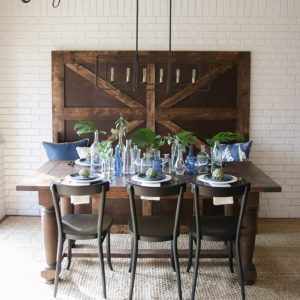 DIY Turned Leg Farmhouse Dining Table