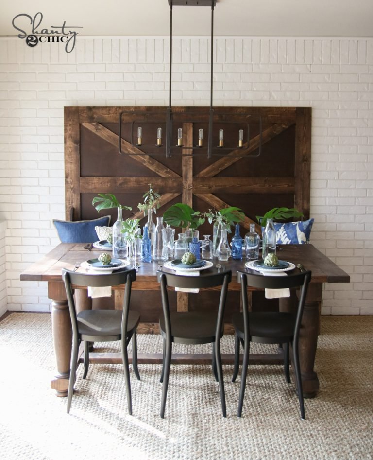 Build A Kitchen Table: DIY Turned Leg Farmhouse Dining Table