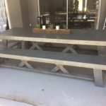 9′ Double X Outdoor Table and Benches