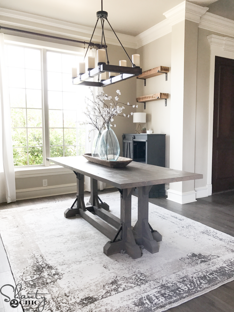 Diy Industrial Corbel Farmhouse Table Shanty 2 Chic
