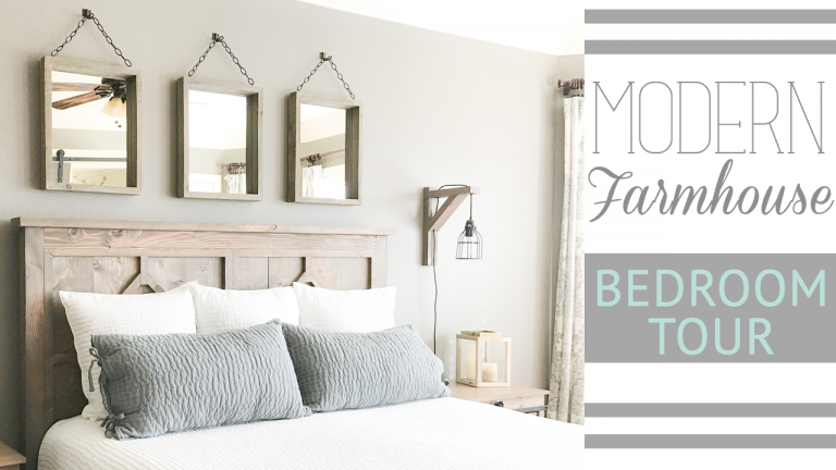 farmhouse bedroom furniture. I have my room almost complete and LOVE IT  Grab a cup of coffee let Whit show you around Just click HERE or the video below Ashley s Modern Farmhouse Bedroom Tour Shanty 2 Chic