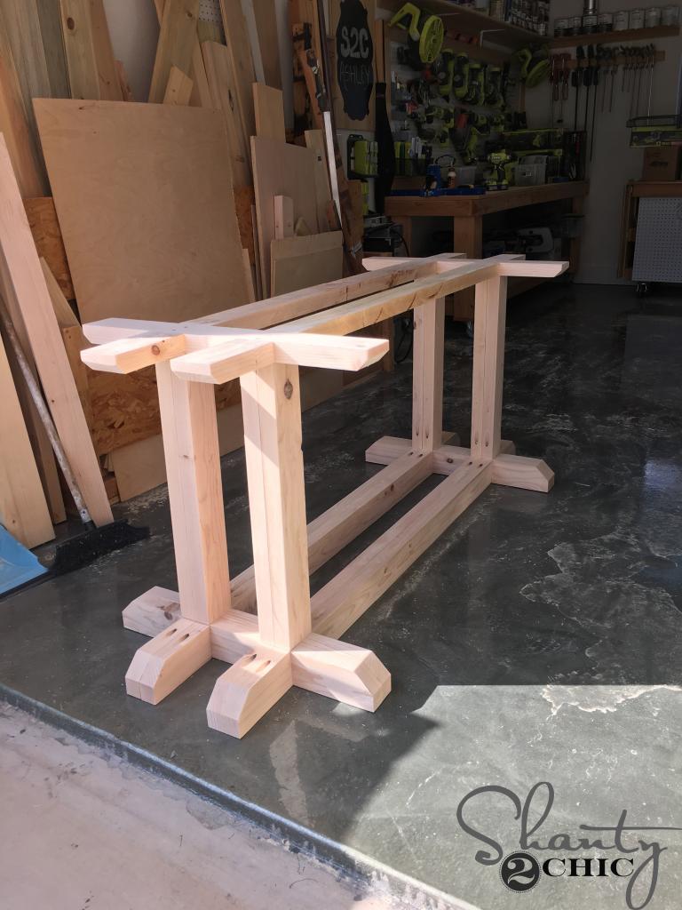DIY Industrial Corbel Farmhouse Table Shanty 2 Chic