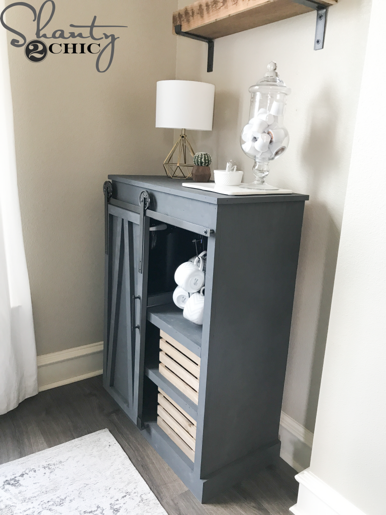 Diy Barn Door Coffee Cabinet Shanty 2 Chic