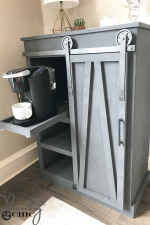 DIY Barn Door Coffee Cabinet