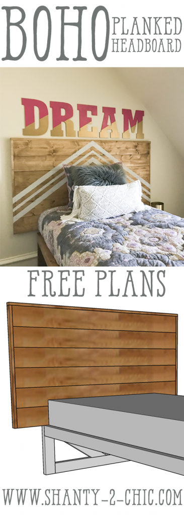 DIY Planked Headboard