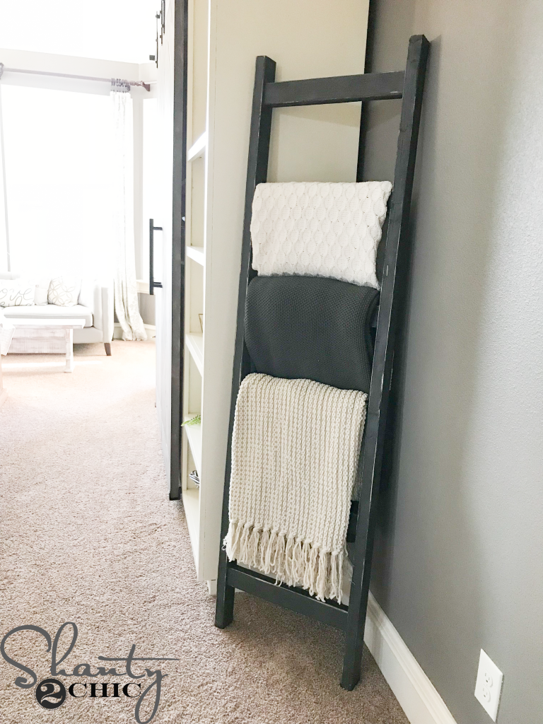 You Can Download The FREE Printable Plans HERE And Then Grab A Coffee Come Build This DIY Blanket Ladder