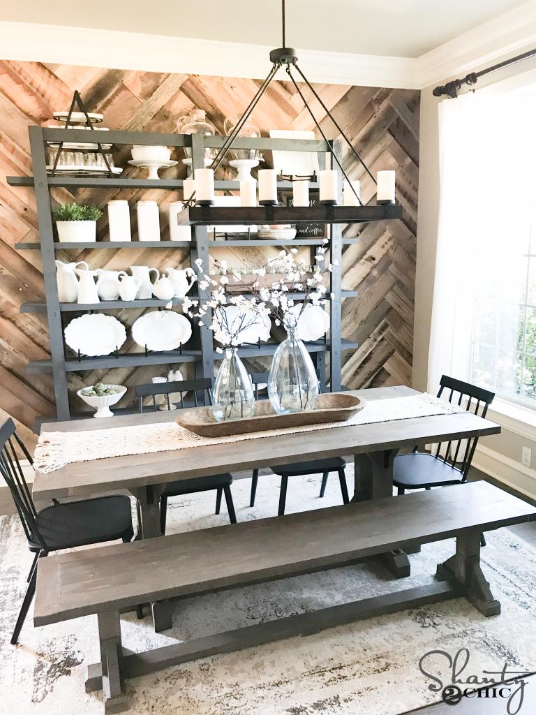 DIY Industrial Corbel Dining Bench