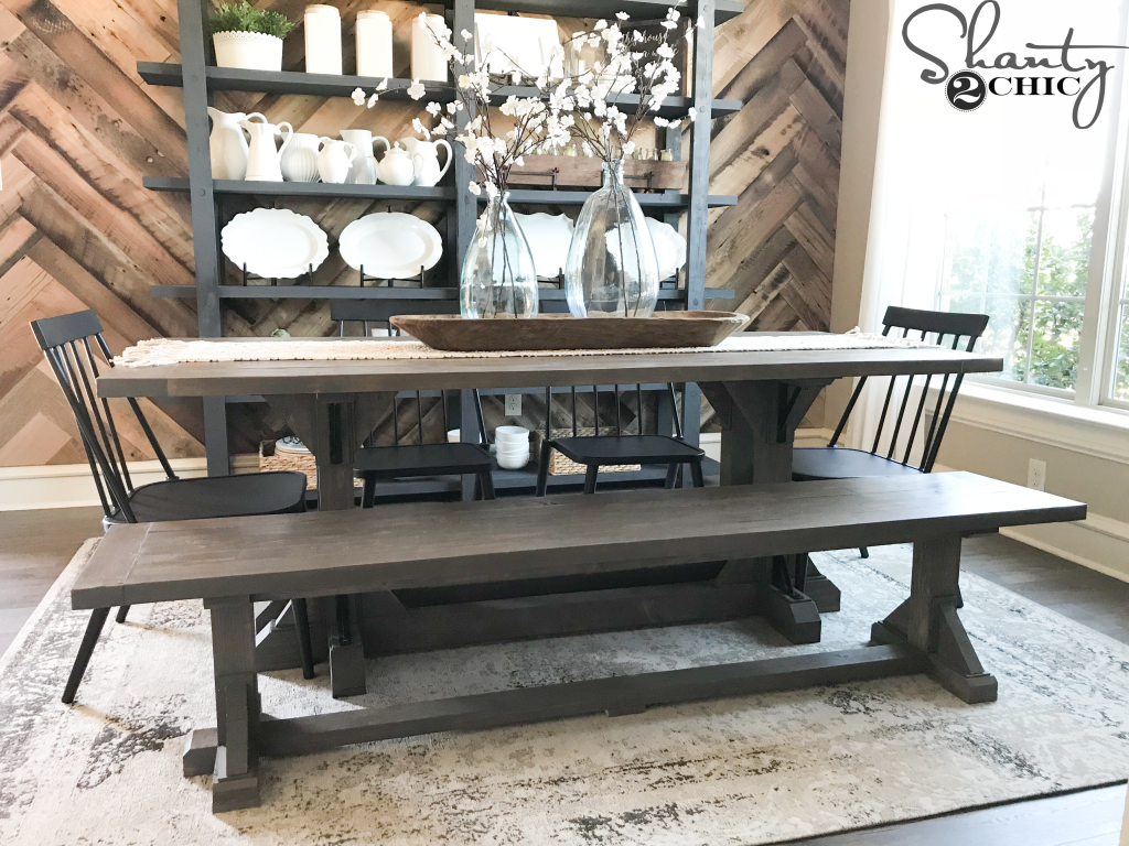 benches for dining room | DIY Industrial Corbel Dining Bench - Shanty 2 Chic