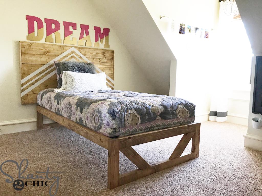 Diy Modern Platform Bed Shanty 2 Chic