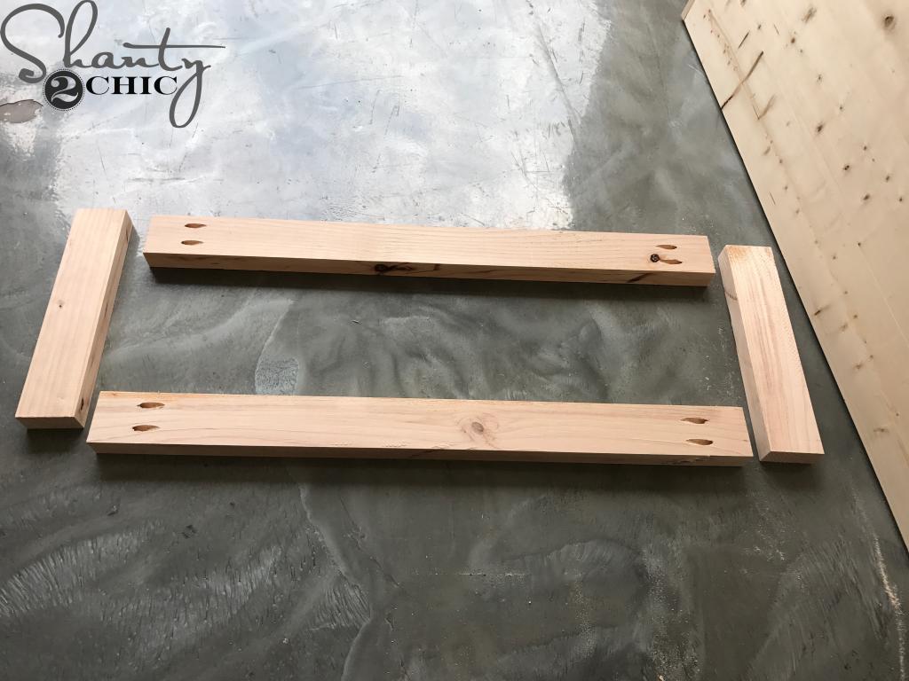 DIY Modern Platform Bed - framing