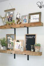 DIY Chunky Industrial Shelves