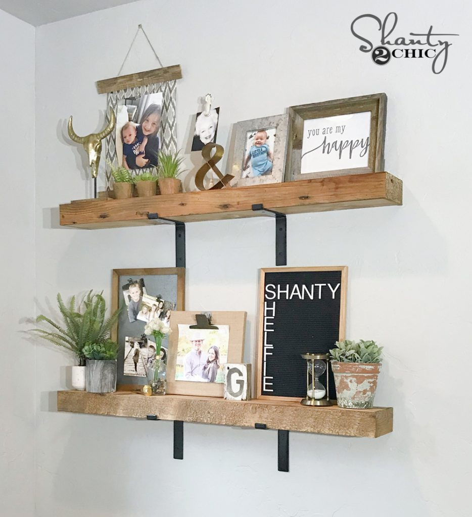 diy chunky industrial shelves shanty 2 chic. Black Bedroom Furniture Sets. Home Design Ideas