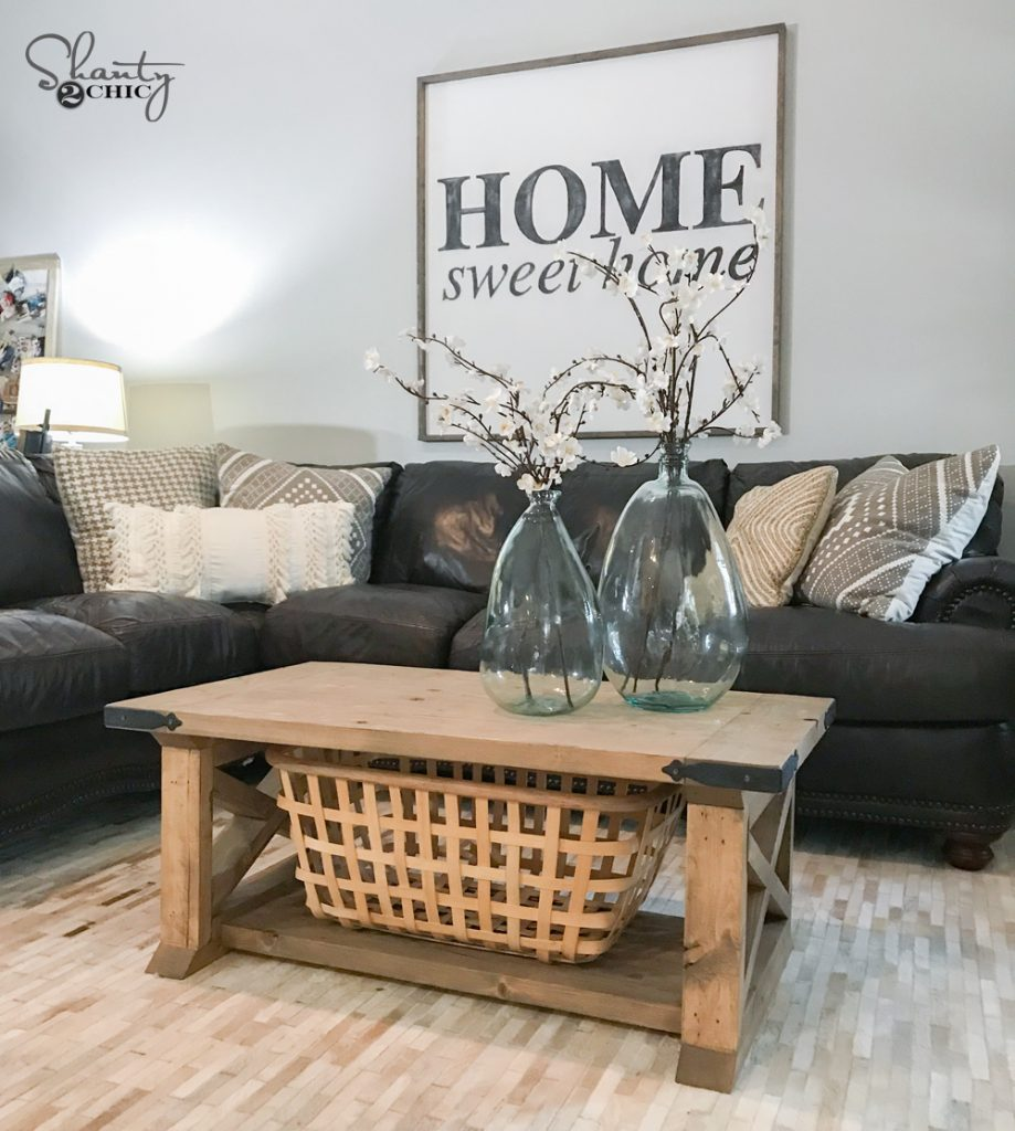 diy 8 board farmhouse coffee table shanty 2 chic. Black Bedroom Furniture Sets. Home Design Ideas