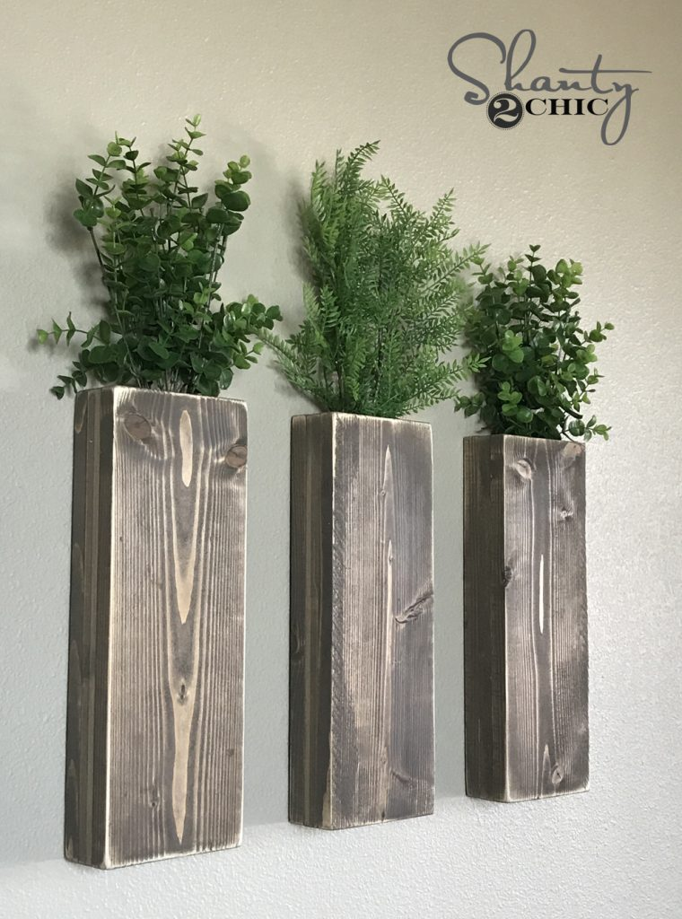 Diy Modern Farmhouse Wall Planters Shanty 2 Chic