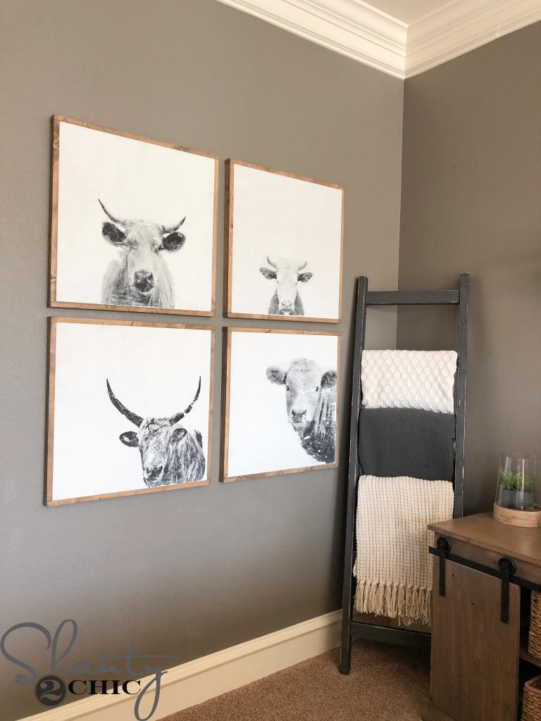 diy cow wall art shanty 2 chic. Black Bedroom Furniture Sets. Home Design Ideas