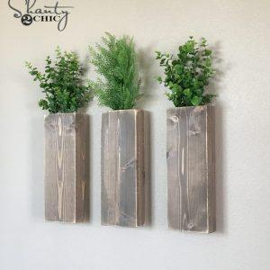 diy modern farmhouse wall planters - Farmhouse Wall Decor