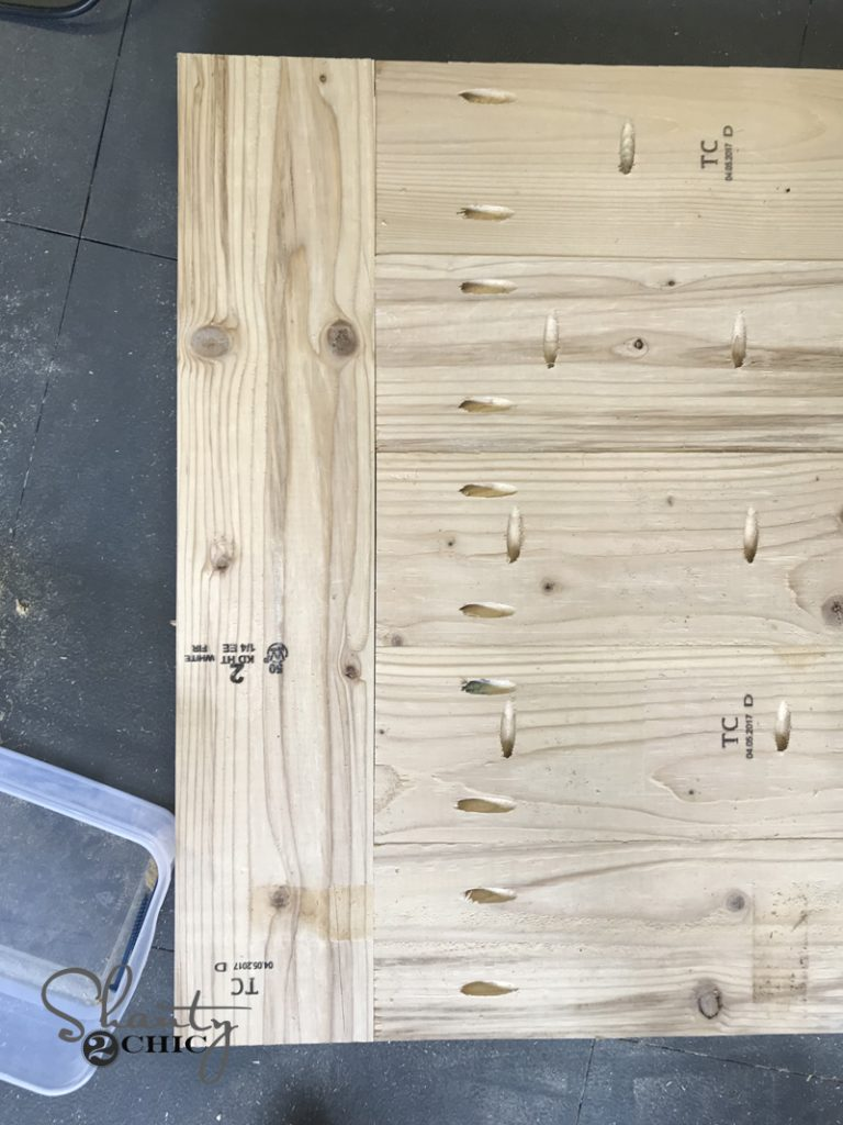 Create The Shelf Assmebly Of The Table The Same Way! Attach The Three  Boards To Each Other Using 2.5u201d Pocket Hole Screws. Donu0027t Forget To Add The  Pocket ...