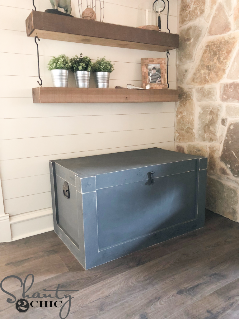 Diy Modern Farmhouse Trunk Shanty 2 Chic