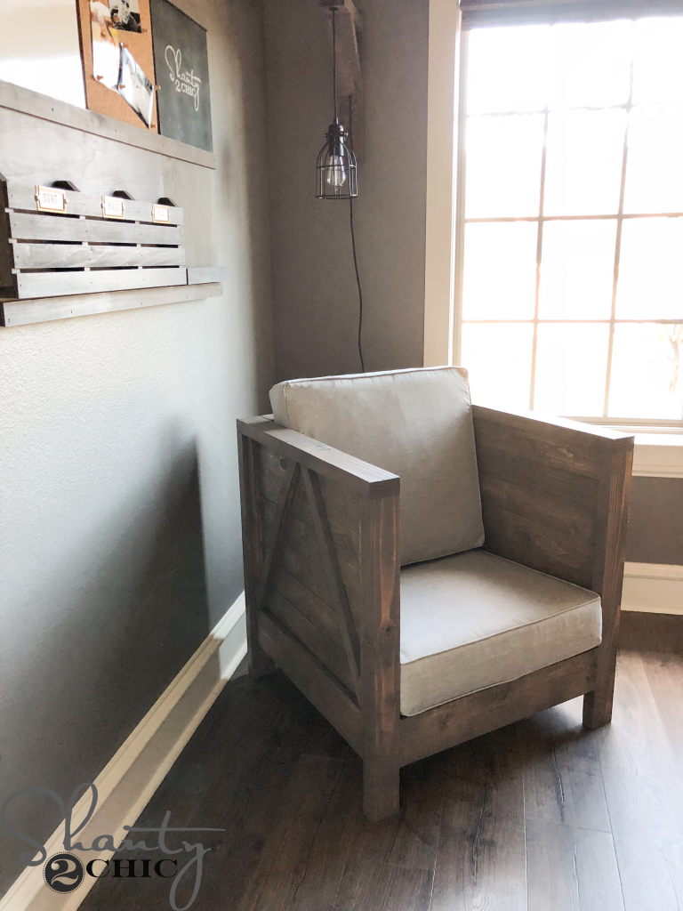 DIY Farmhouse Club Chair - You're Finished