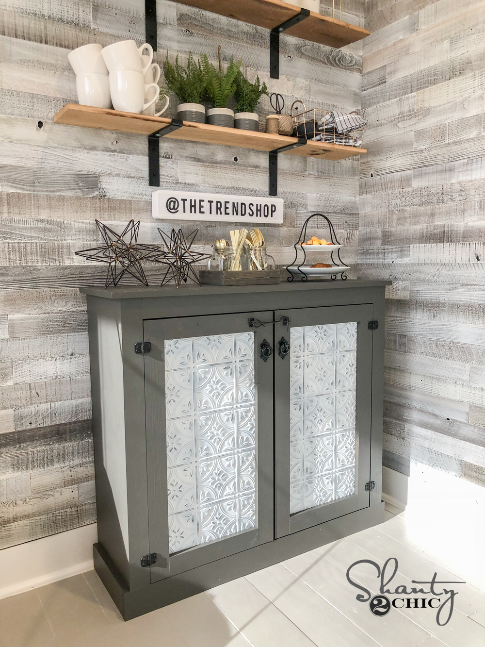DIY Tin Door Cabinet & DIY Tin Door Cabinet - Easy DIY Tin Door Console Shanty 2 Chic