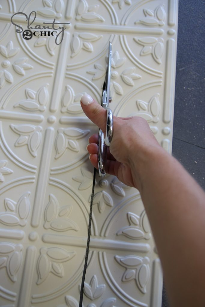 Then Use A Stapler Or Nailer To Attach The Panel Back Of Door Frame These Faux Tin Panels Are You Can Find Them Here On