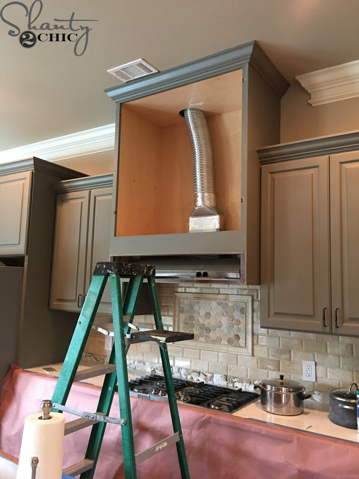 Diy Barn Door Vent Hood Easy Vent Hood Modification To
