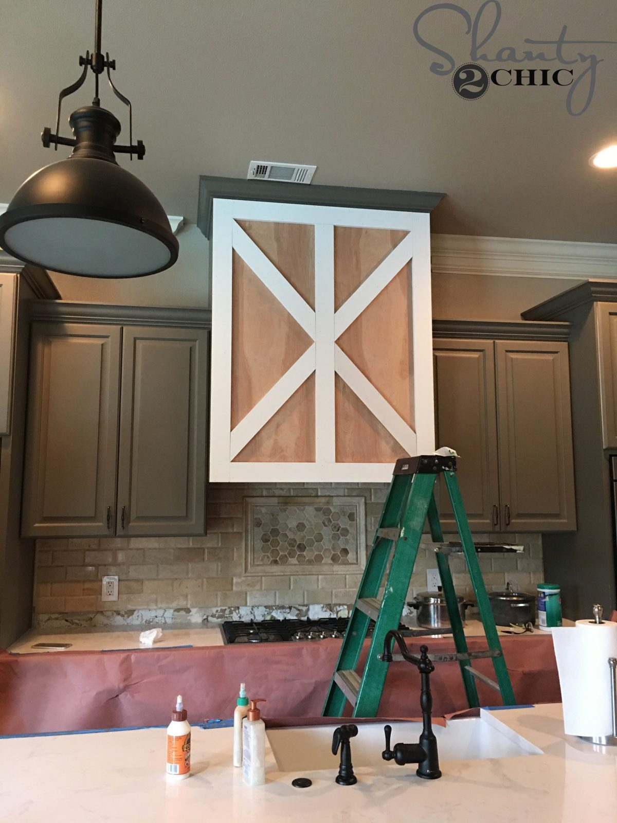 DIY Barn Door Vent Hood - Tutorial
