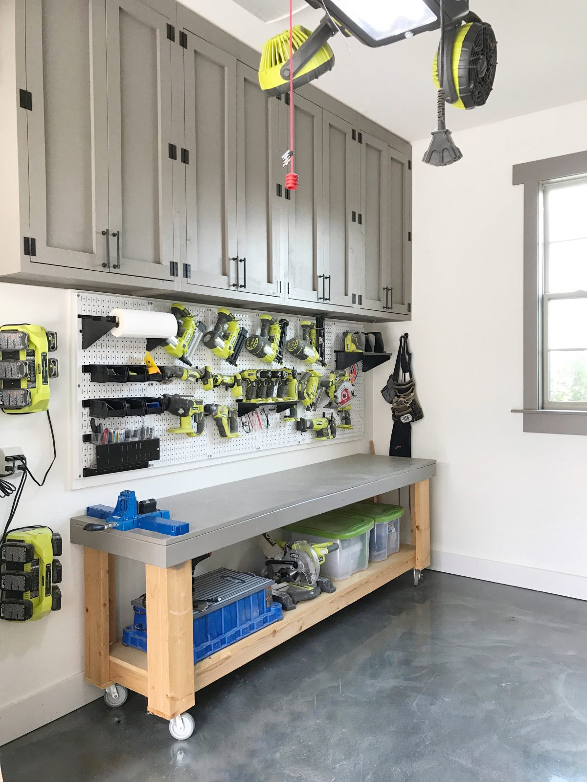 Diy Cabinets For A Garage Workshop Or Craft Room Shanty 2 Chic
