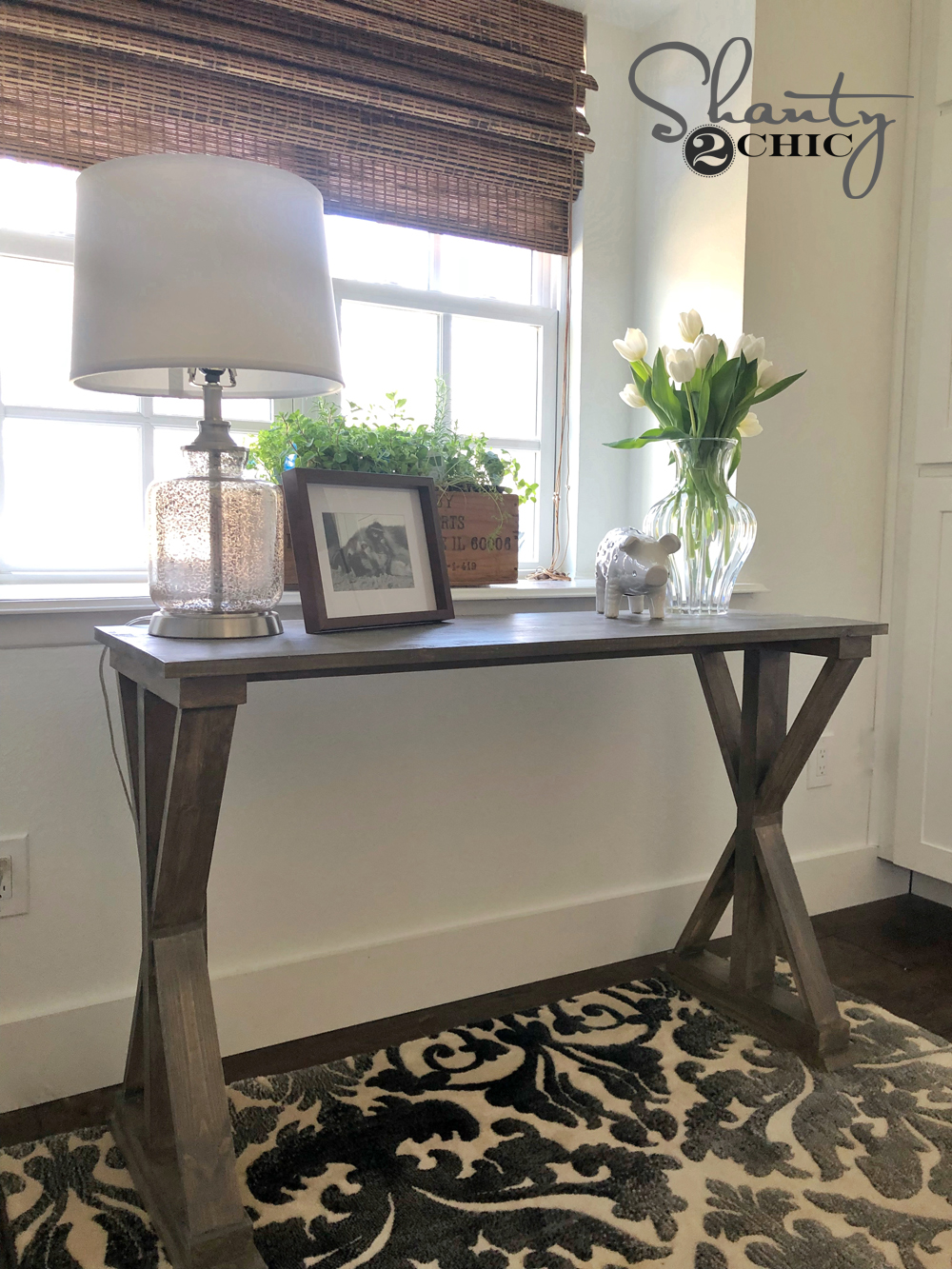 DIY 6 Board Farmhouse Desk Tutorial