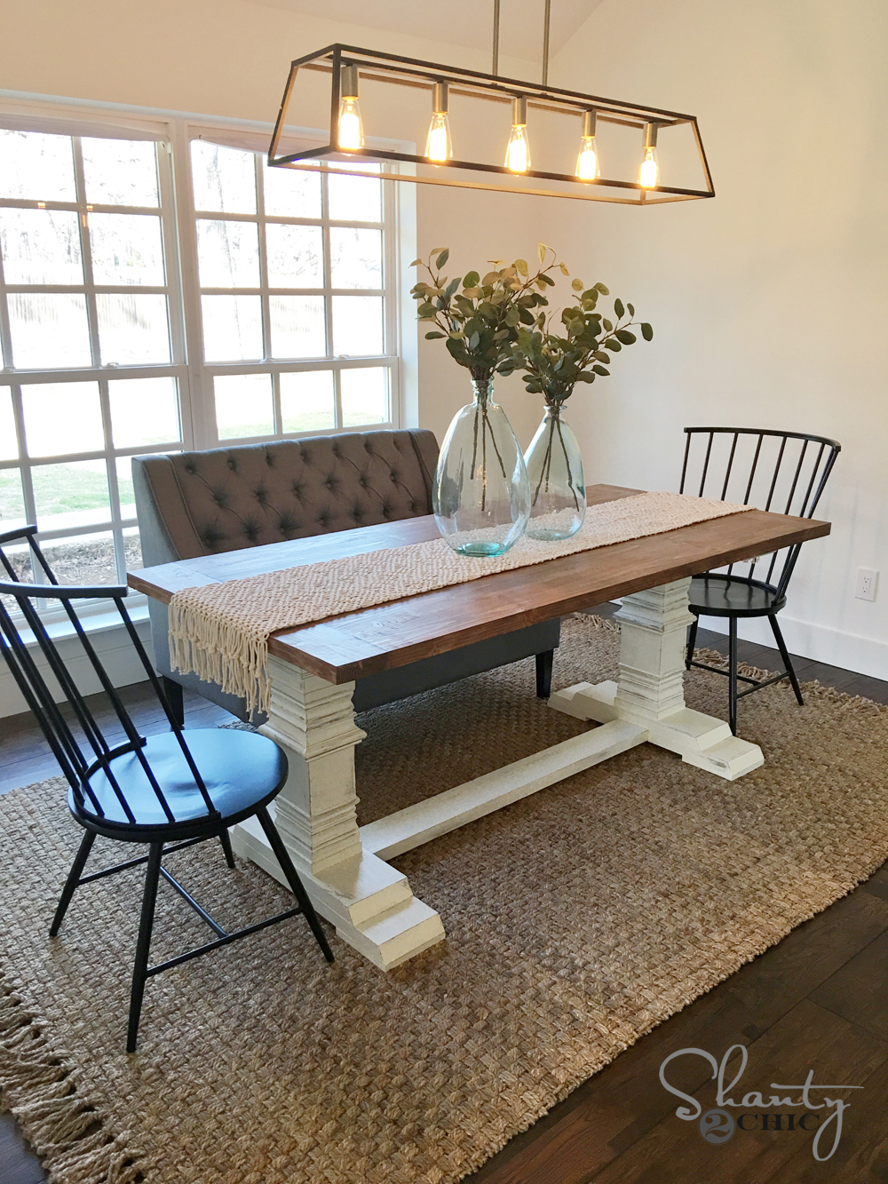 DIY Farmhouse Pedestal Table DIY Farmhouse Pedestal