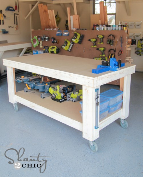 Do It Yourself Garage Workbench Plans: Shanty 2 Chic