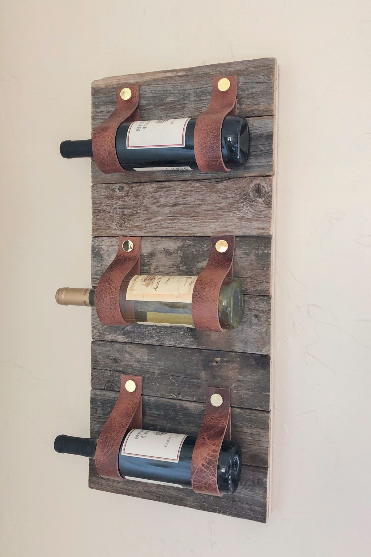 DIY Wood and Leather Wine Rack Shanty 2 Chic