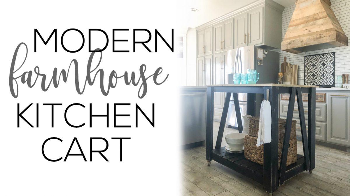 diy kitchen island cart. Brilliant Diy DIY Modern Farmhouse Kitchen Island Cart Intended Diy