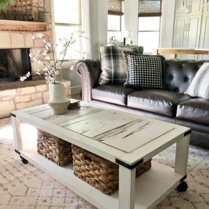Barn Wood Cart Coffee Table by Shanty2Chic