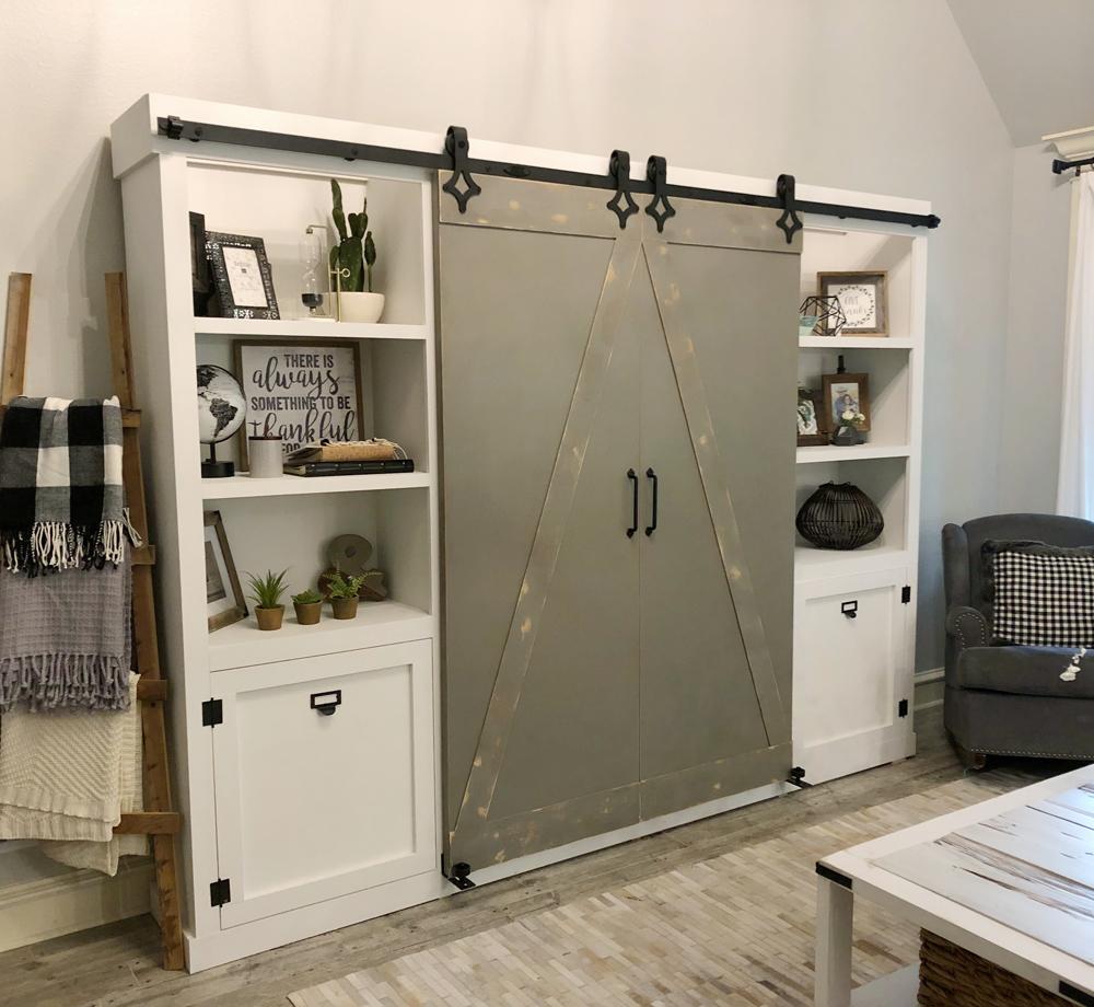 Diy Barn Door Media Cabinet Free Plan Shanty 2 Chic