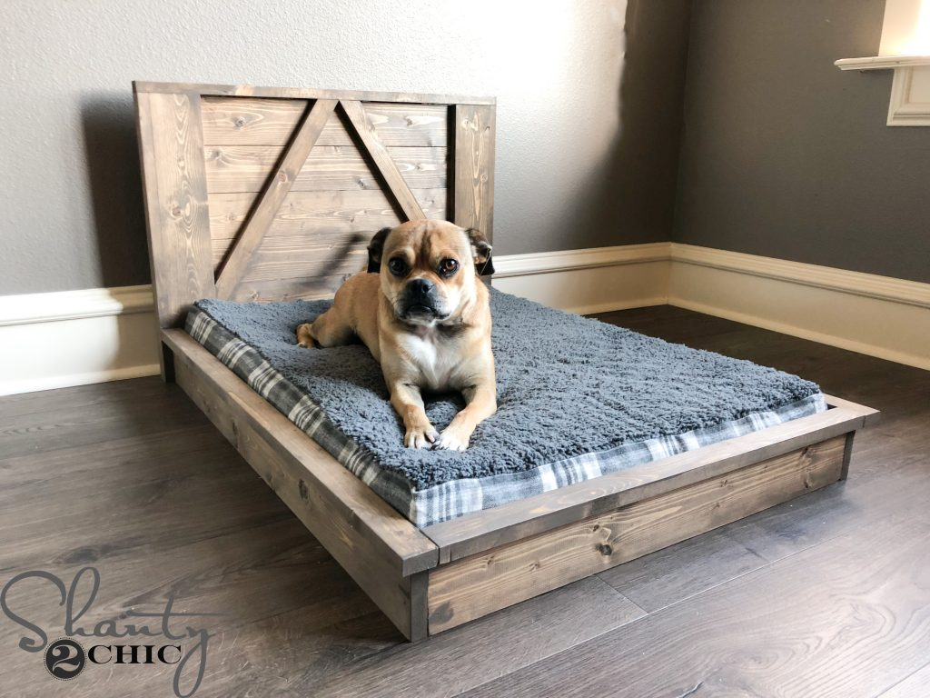 Hoss Loves His New DIY Farmhouse Dog Bed So Much! I Wish I Had Thought Of  This Idea Sooner 😉