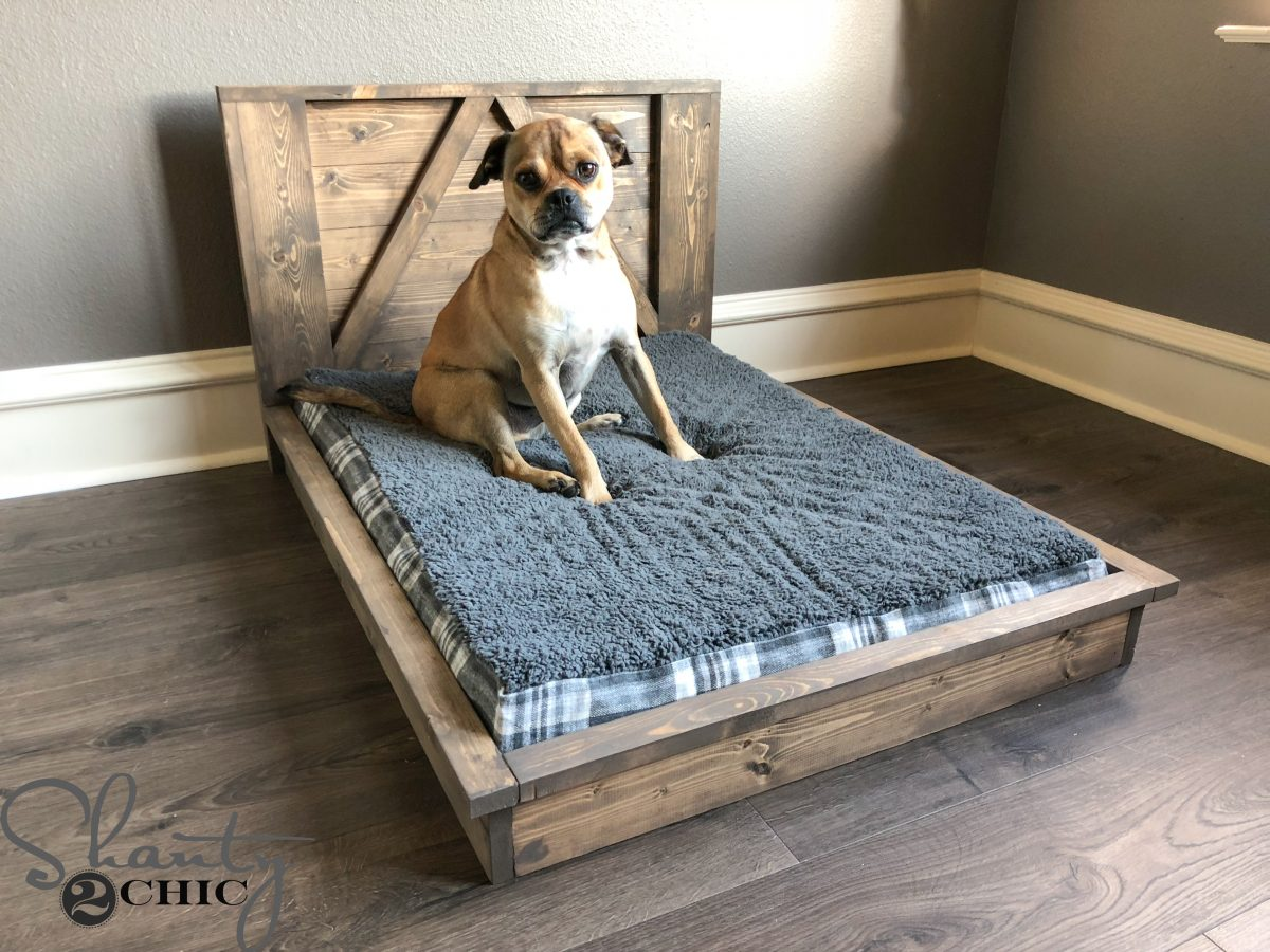 Diy Farmhouse Dog Bed For Man S Best Friend Shanty 2 Chic