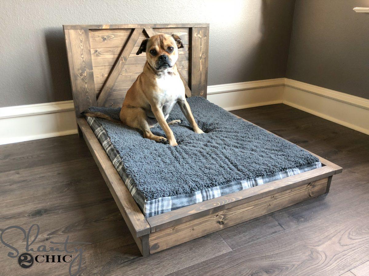 Diy Farmhouse Dog Bed For Man S Best Friend Shanty 2 Chic