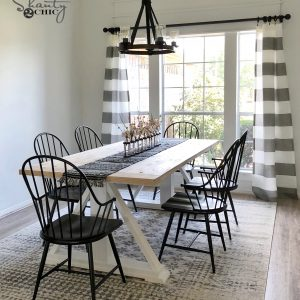 DIY Modern Farmhouse Dining Table U2013 The Leasha Table