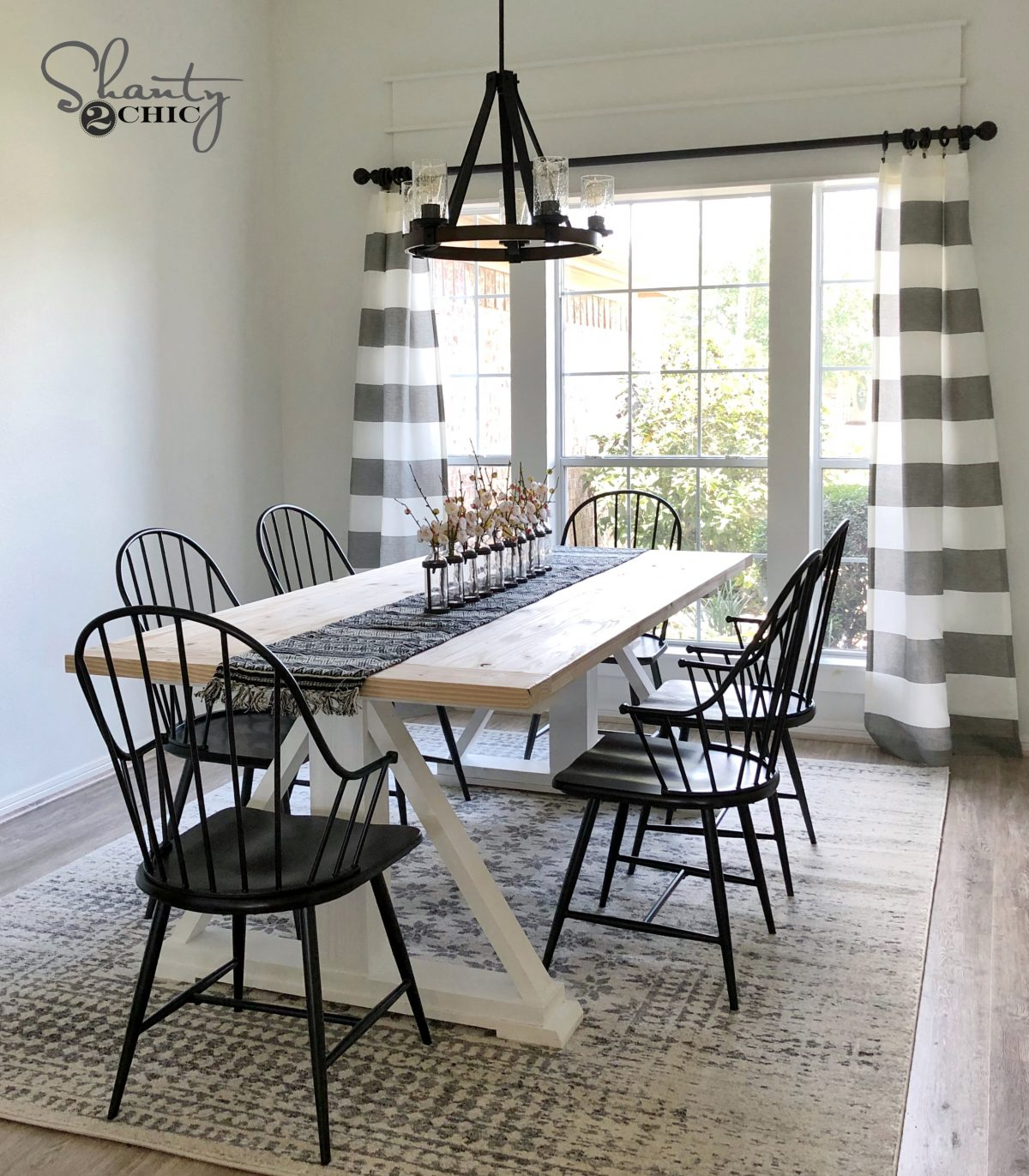 DIY Modern Farmhouse Dining Table - The Leasha Table - Shanty 2 Chic