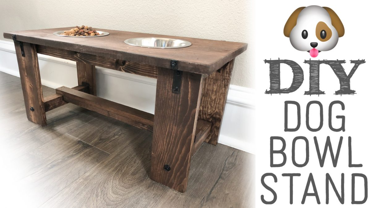 Diy Dog Bowl Stand For Your Puppies Shanty 2 Chic