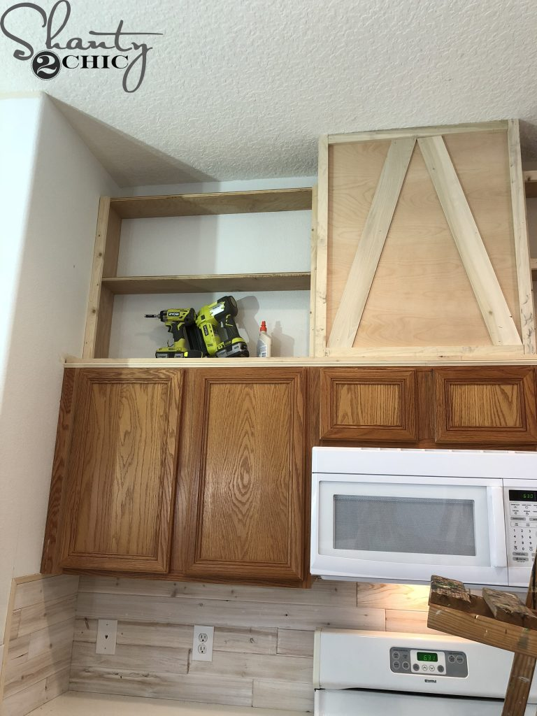 How to Make Cabinets Taller - shelves