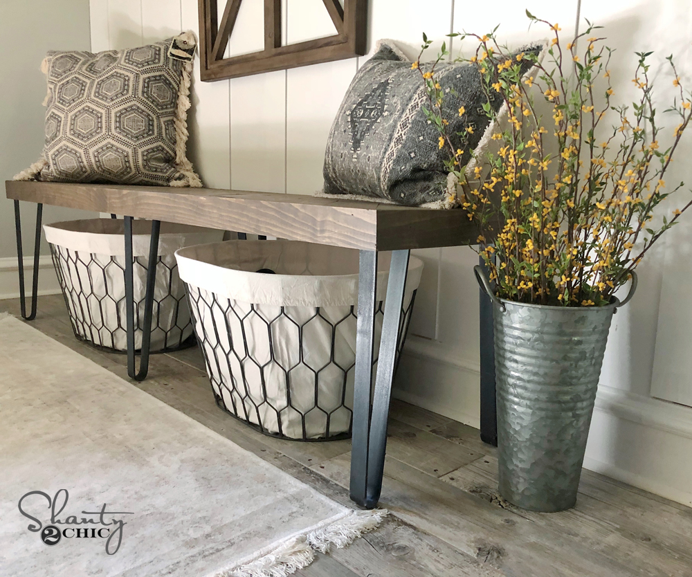 DIY Beefy Hairpin Bench