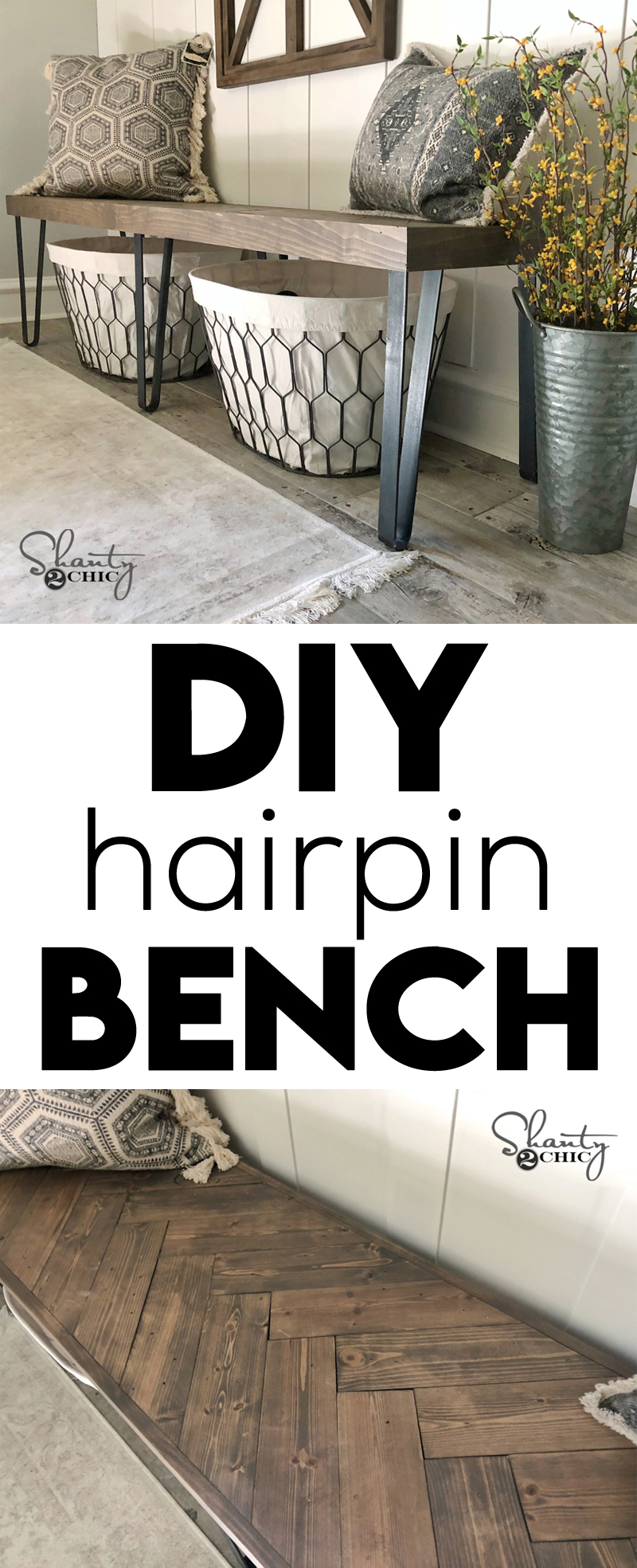 DIY Beefy Hairpin Bench