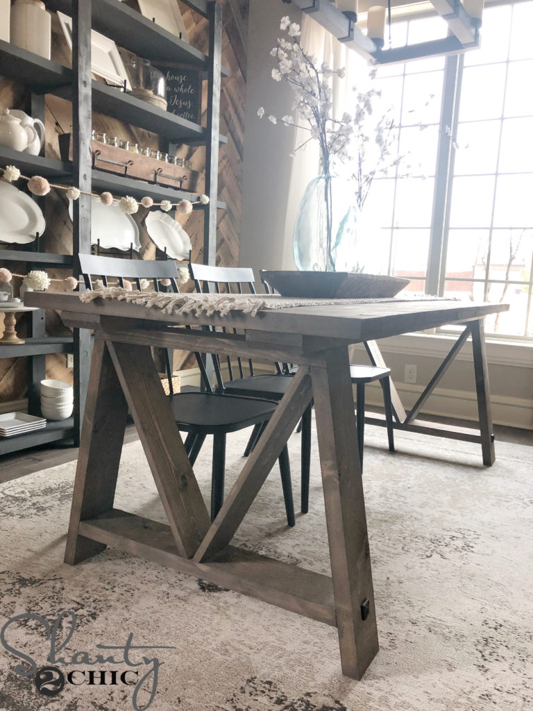 DIY Fancy V Dining Table