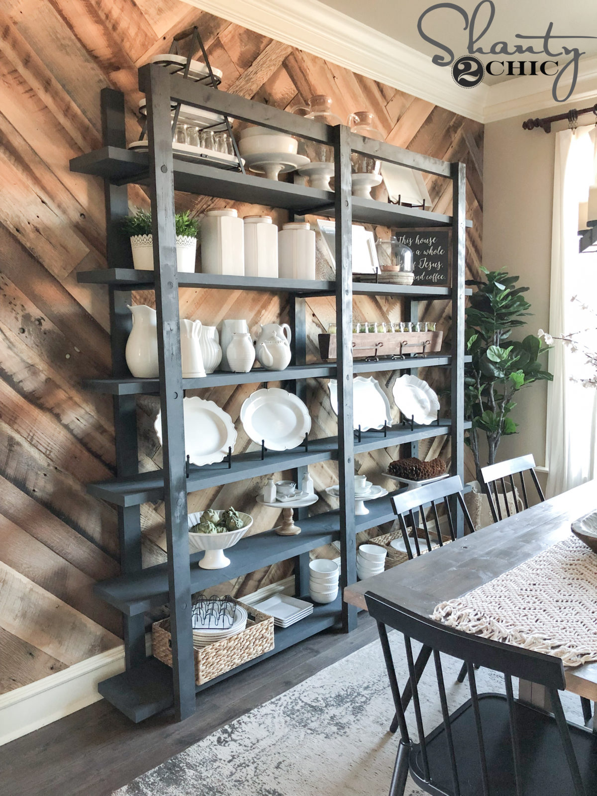 Diy Modern Farmhouse Plate Rack Shanty 2 Chic