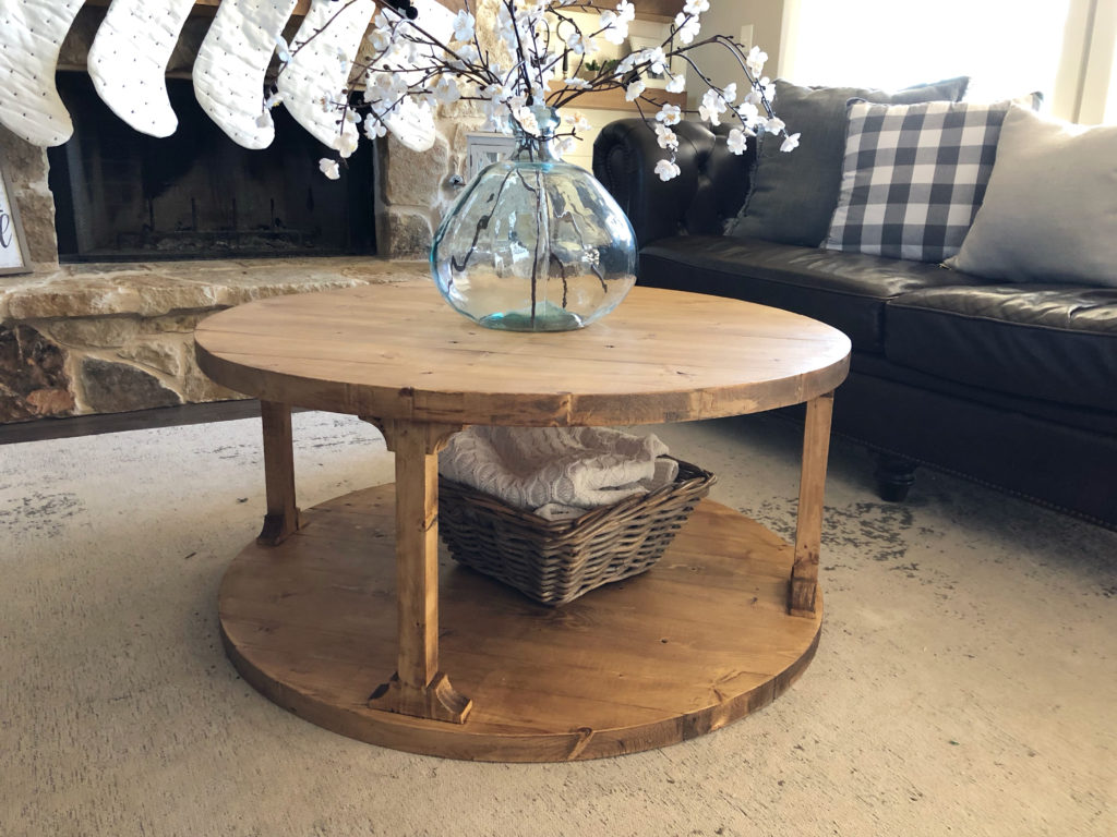 Diy Round Coffee Table Shanty 2 Chic