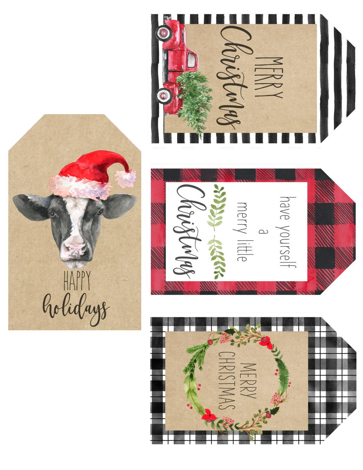 Free Printable Christmas Gift Tags - Shanty 2 Chic