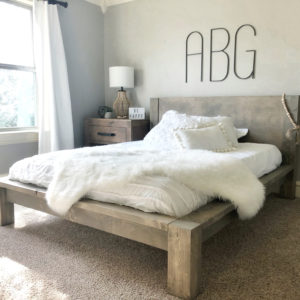 DIY Rustic Modern Queen Bed by Shanty2Chic FREE PLANS